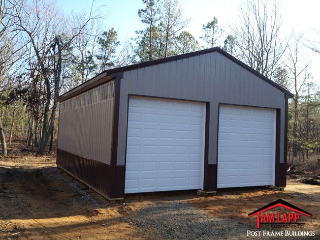 24 W X 32 L X 12 H Commercial Polebarn Building In Estell