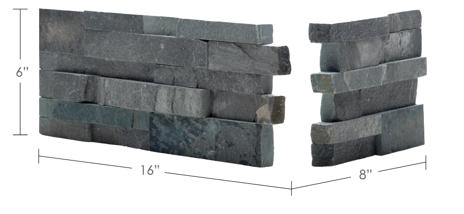 norstone stacked stone veneer rock panel corner unit for wall