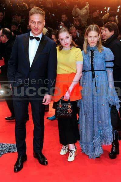 Tom Wlaschiha, Jella Haase, Aino Laberenz and Clemens Schick attend the 'Django' premiere during the 67th Berlinale International Film Festival Berlin at Berlinale Palace on February 9, 2017 in Berlin, Germany
