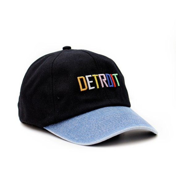 db28cc20bed black and blue denim Detroit snapback hat in 2018