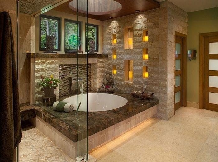 Imagenes baños con ducha y bañera preciosos   Imagenes baños, Bañera ...