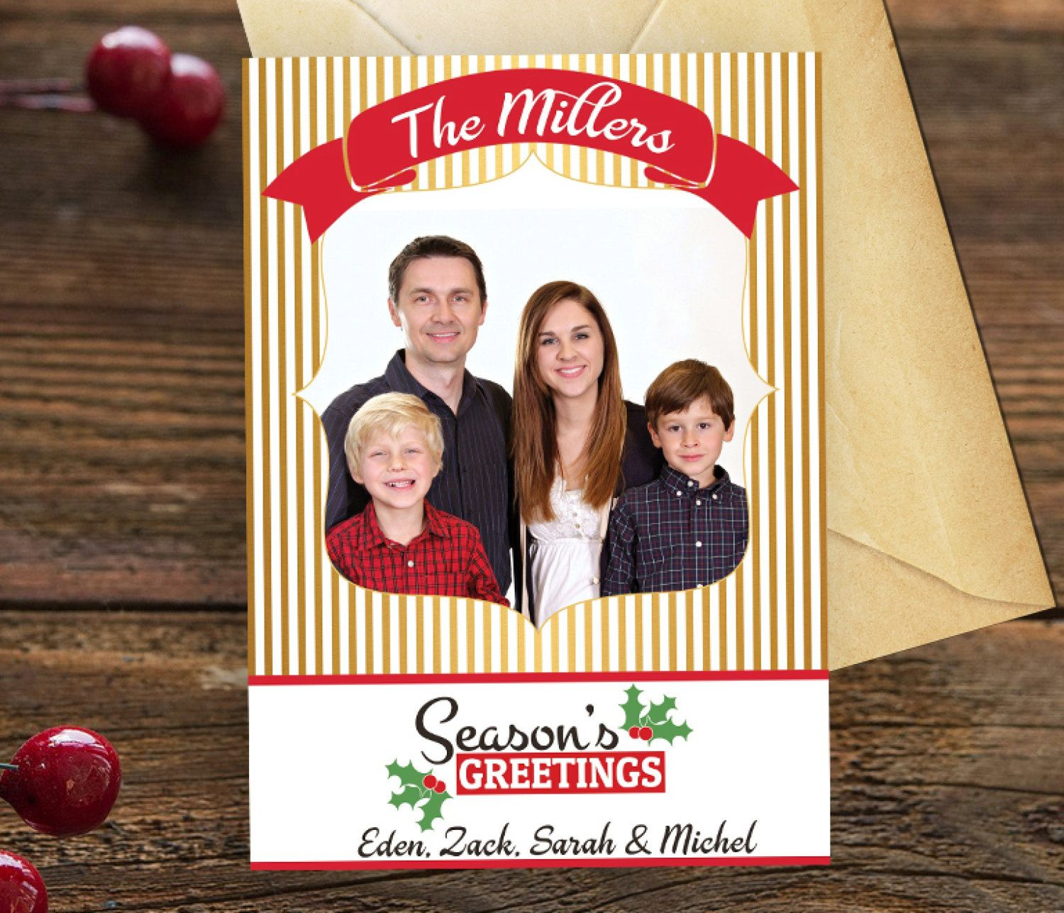 Custom family photo greeting card christmas wishes greeting card custom family photo greeting card christmas wishes greeting card family christmas photo card kristyandbryce Image collections