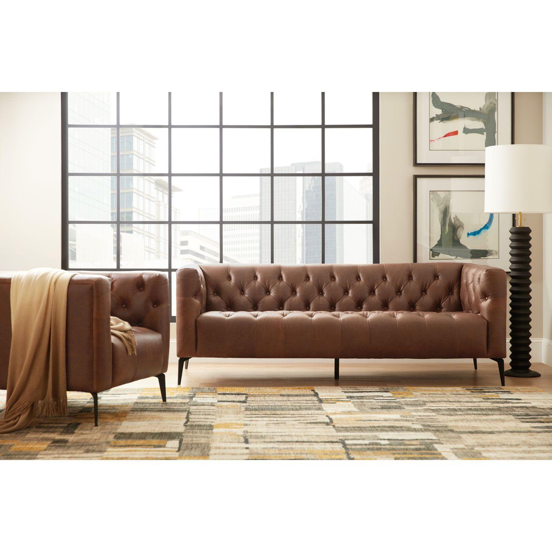 Hooker Furniture Nicolla Brown Stationary Sofa Ss637 03 089 | Bellacor