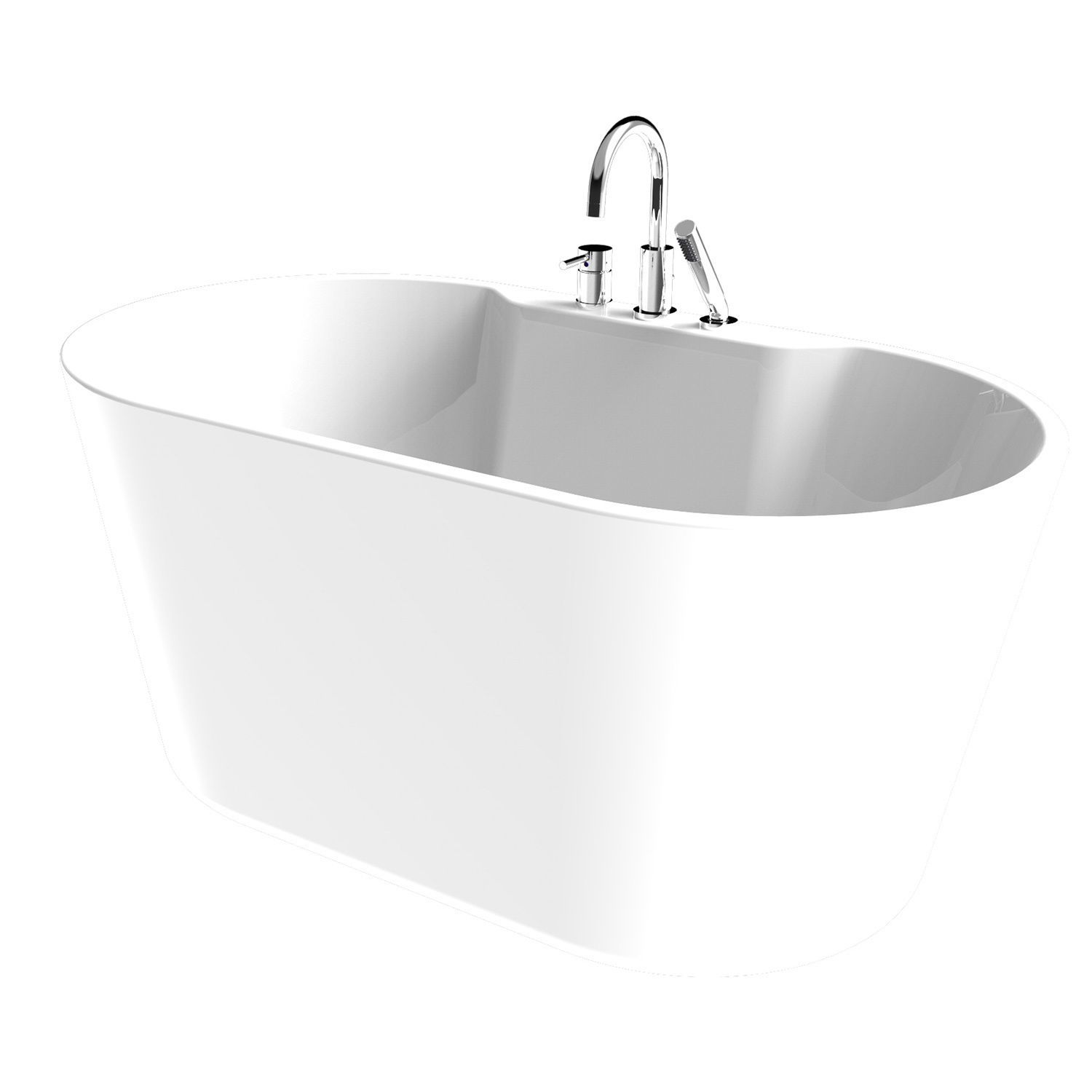 Retro All-In-One Free-Standing Tub Combo