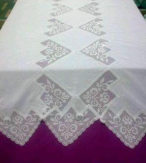 Dantel ile tasarlanmış masa örtüsü #dollies