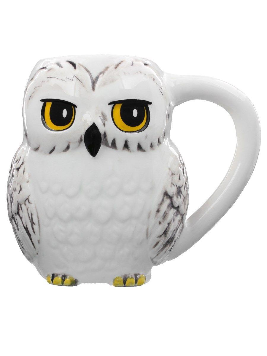 Harry Potter Hedwig 3D Ceramic Mug with Lid New /& Official Warner Bros