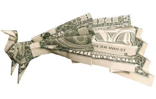 Origami formas increibles con un billete de un dólar6z