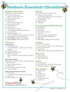 newborn hospital checklist