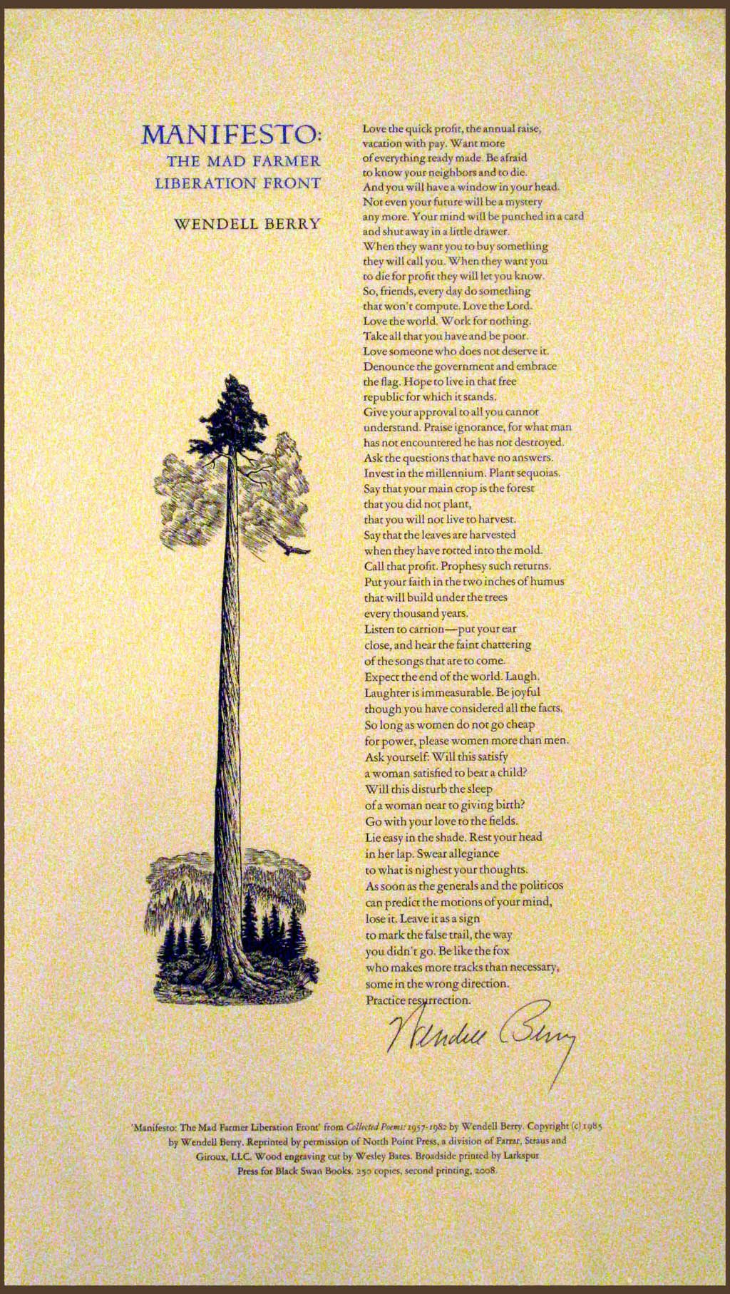 wendell berry poems