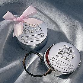 My First Tooth and Curl Keepsake Trinket Box Christening Baby Girl Boy Gift Set Newborn 1st Birthday Baby Shower