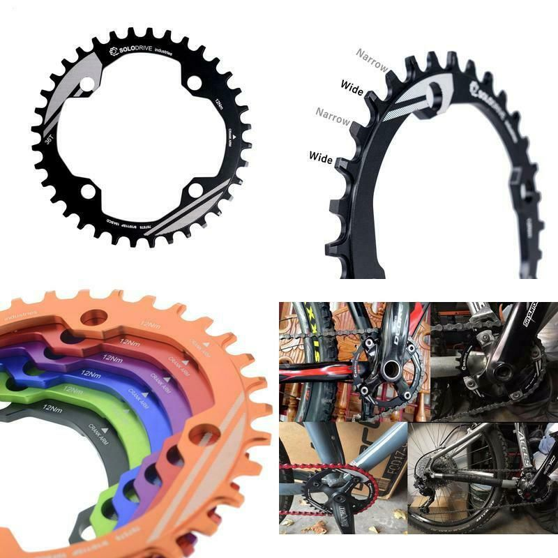 SOLODRIVE 104BCD Single Chainring for 9//10//11-Speed Narrow-Wide