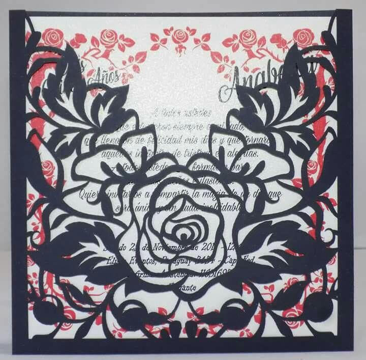 Invitaciones Caladas Rosas Tarjetas De Boda Rosas Y