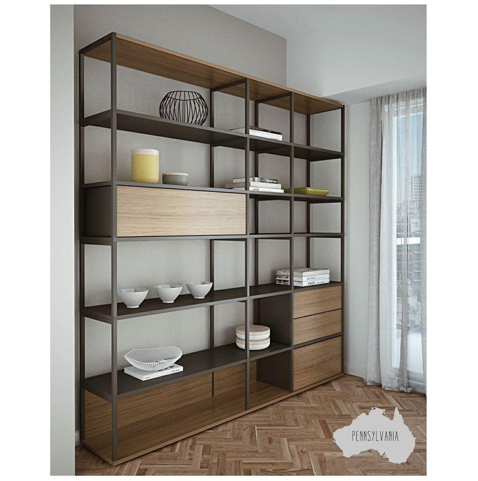 Get the deco look sill n escandinavo y biblioteca de for Muebles industriales metal baratos