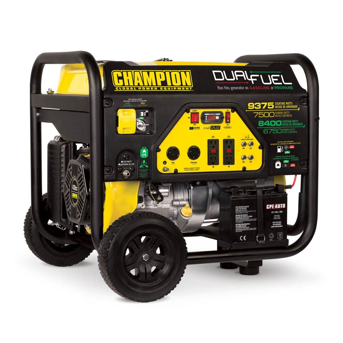 Champion Power Equipment 7500Watt Dual Fuel Portable