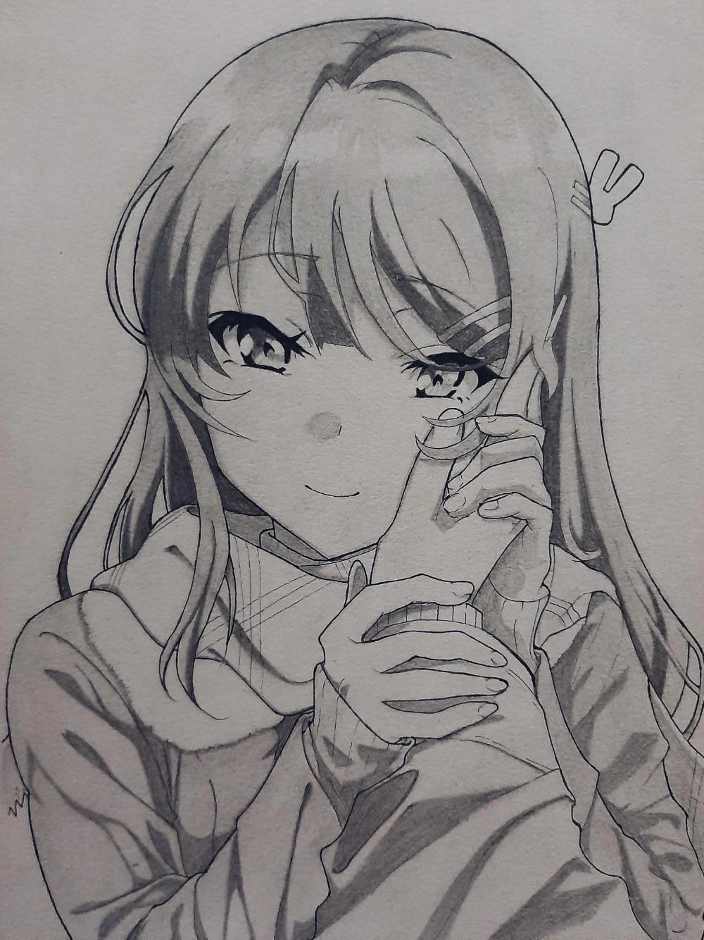 Mai Sakurajima from Rascal Does Not Dream of a Bunny Girl Senpai [reference used]