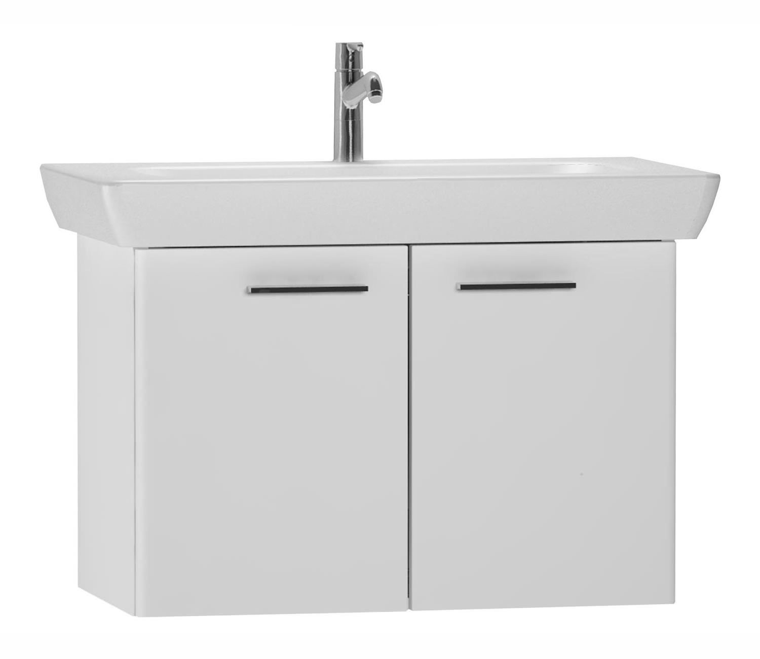 VitrA S20 High Gloss White Finished 65cm Vanity Unit And Basin ...