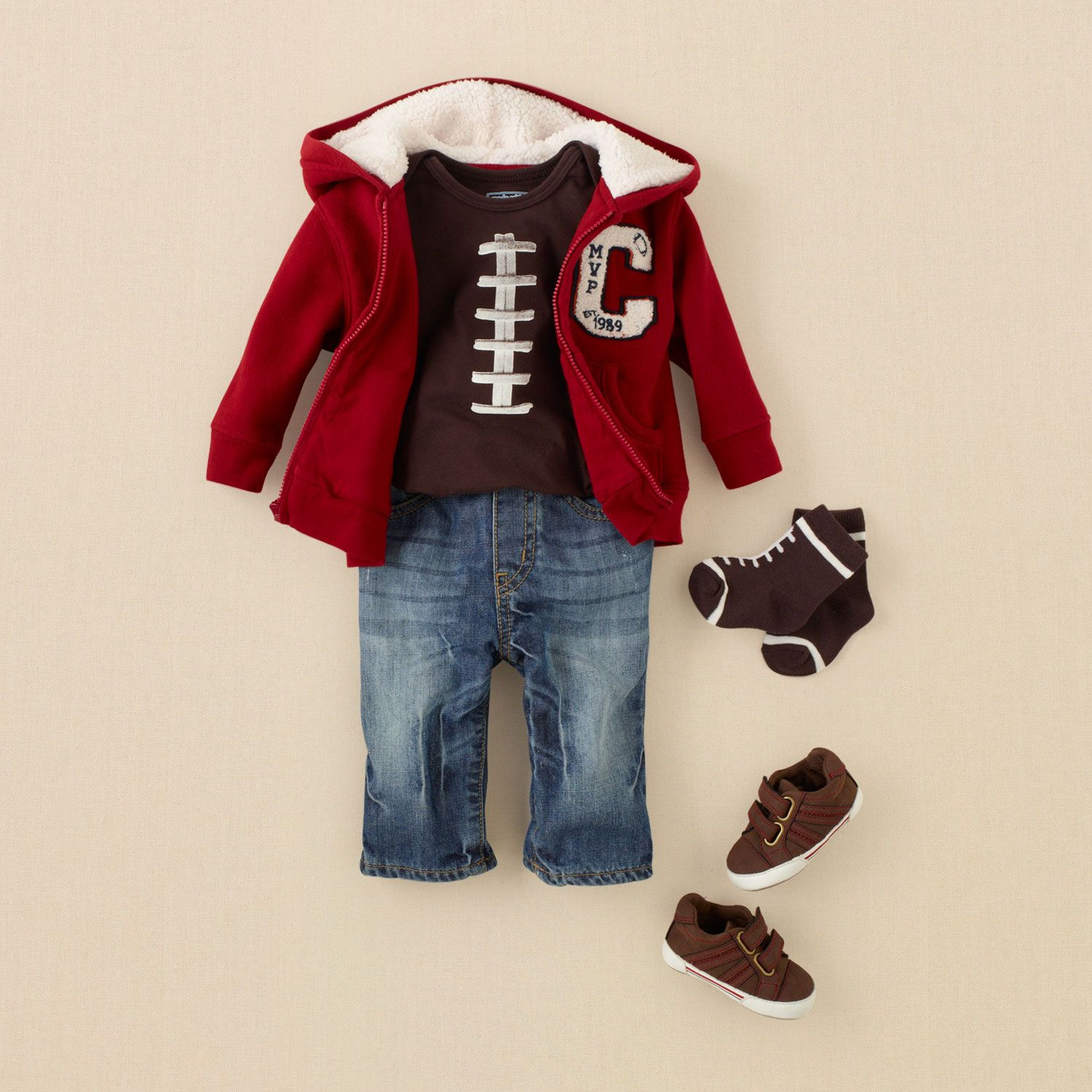 newborn - outfits - preppy boy - football fan  a37cc371ebb5f
