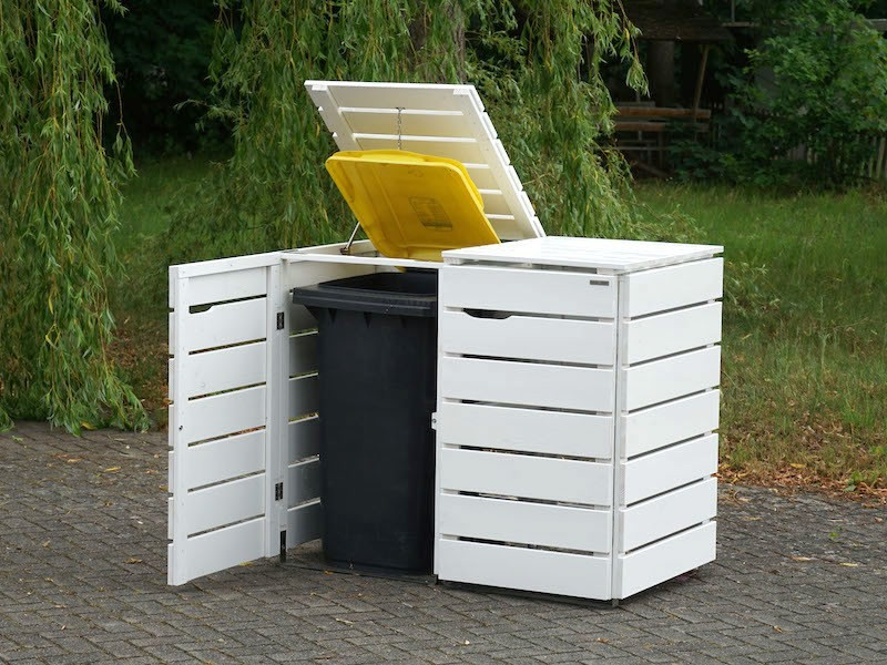 2er Mulltonnenbox Holz 240 Liter Mulltonnenbox Holz Mulltonnenbox Und Mulltonnenverkleidung