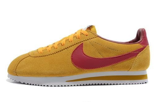 Nike Classic Cortez Vintage Suede Trainers KhakiRed | Nike
