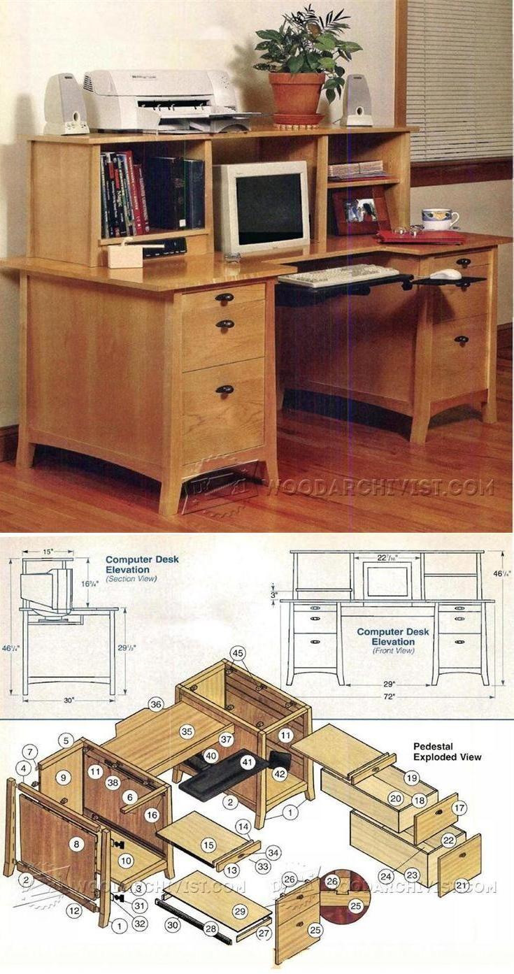 Computer Desk Plans Furniture Plans And Projects Woodarchivist  # Muebles Sencillos De Madera