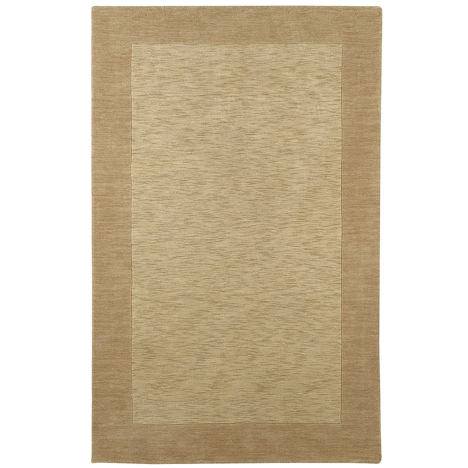 Heather Border Khaki Rug Heather Border Khaki