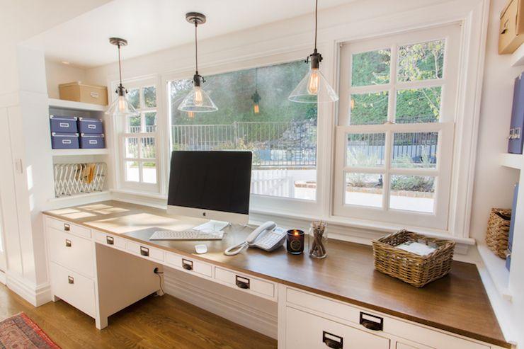 Built In Desks Cottage Den Library Office Thea Home Inc