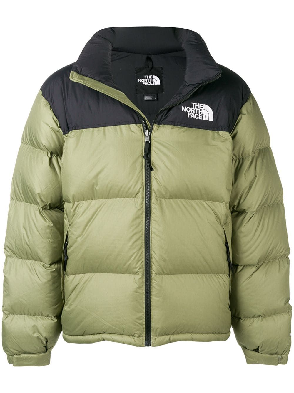 The North Face Feather Down Jacket In Green Modesens