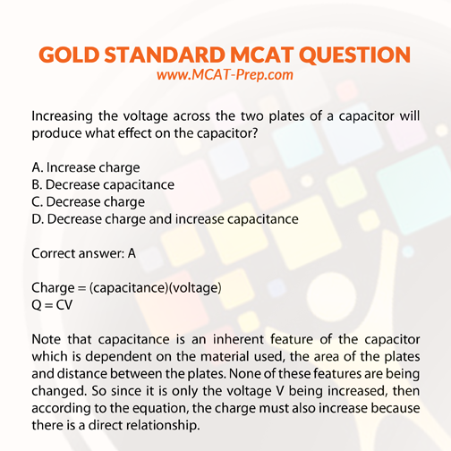 MCAT practice question from Physics, electric circuits