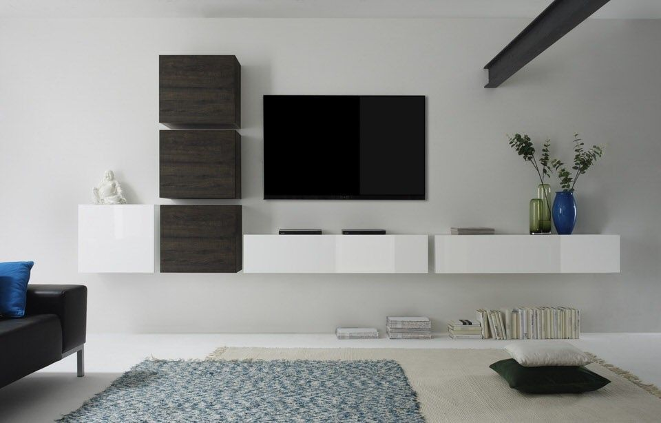 Benvenuto Design Cube TV wandmeubel Combi - Kasten, Tv en Kast