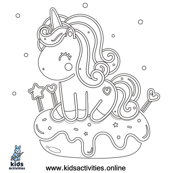 Free Coloring Pages For Unicorns :: Fantasty unicorn ...