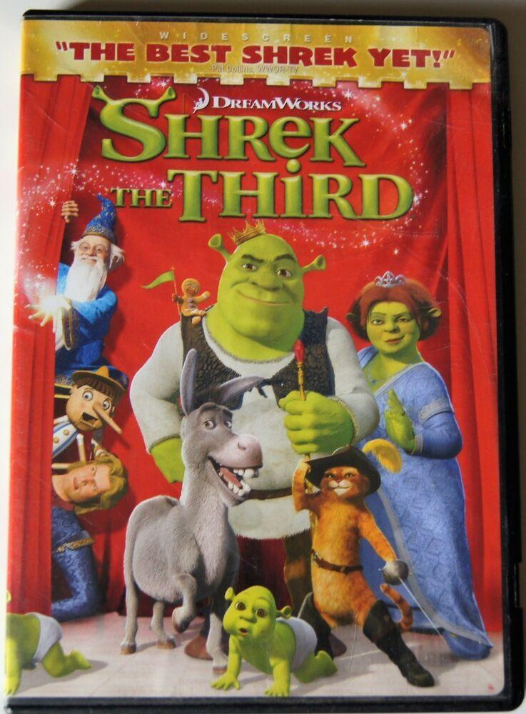 Dreamworks Shrek The Thrid Widescreen Dreamworks Shrek Dreamworks Dvd