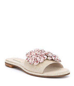 Chaucer Suede Raffia Ornamnet Sandals K20cZiDn