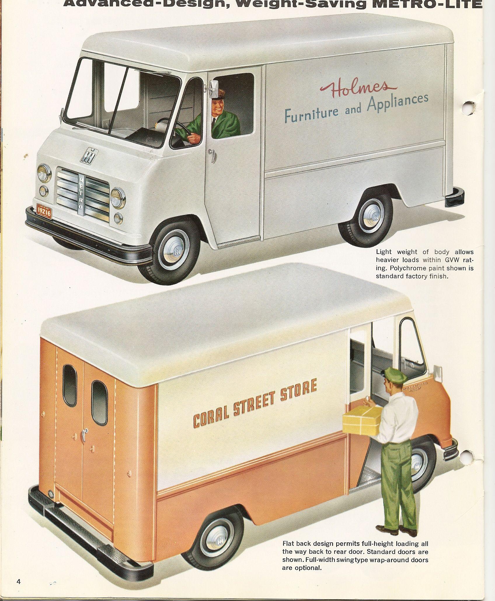 Metro Van sales brochure 2 | Vintage Step Vans | Pinterest | Van ...