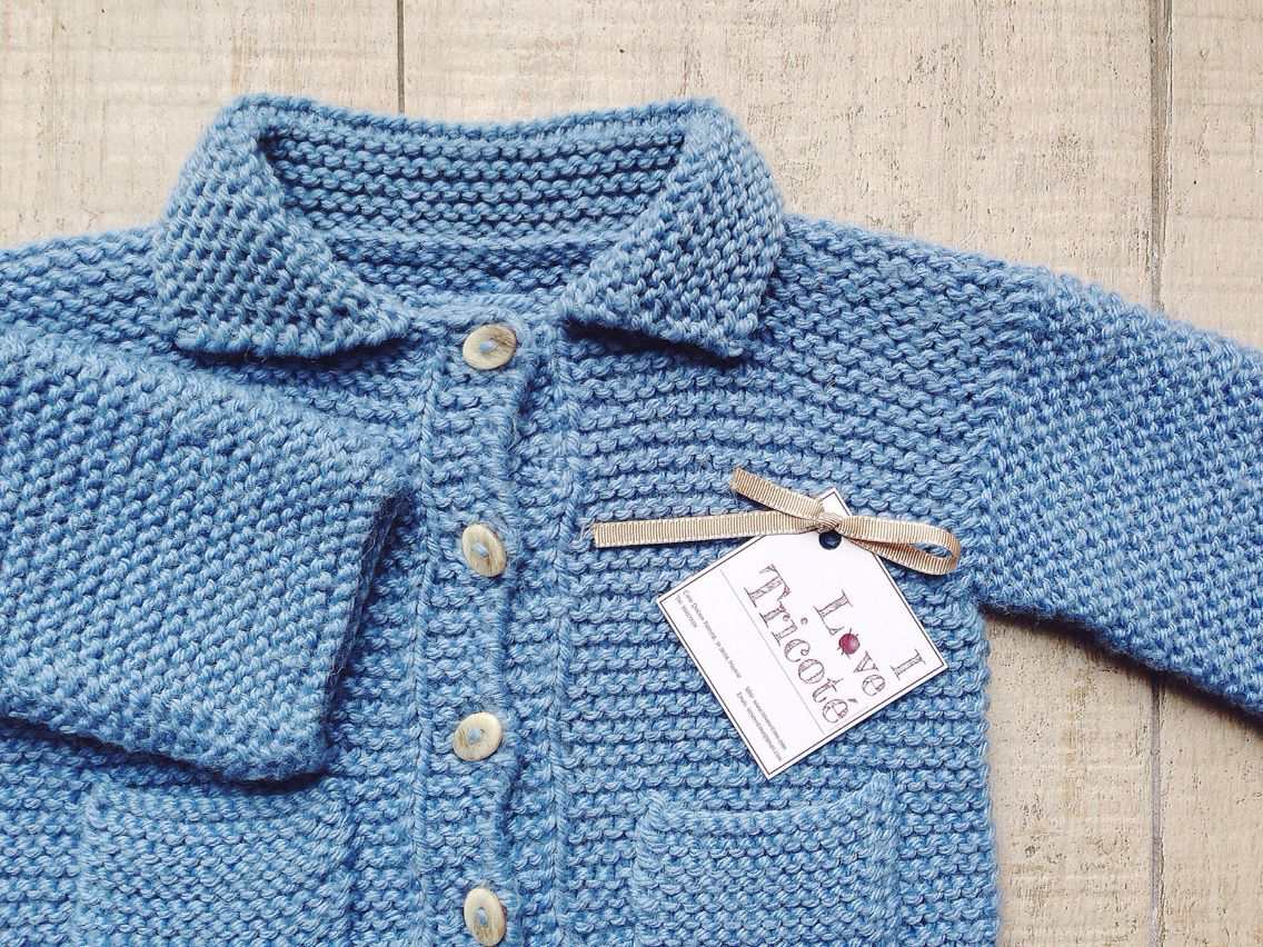 Beautiful baby coat designed and knitted by I Love Tricoté ...