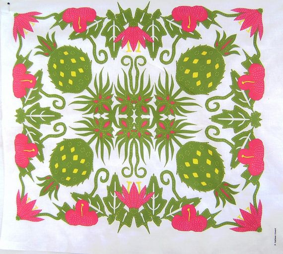Hawaiian quilt panel | Quilts | Pinterest