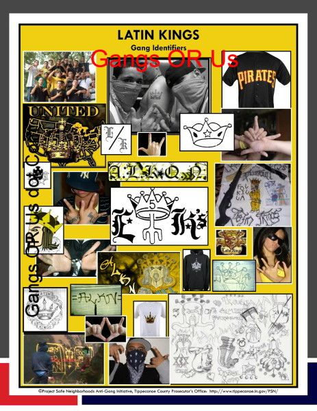 Street Gang Signs And Symbols Correctional Officers Pinterest
