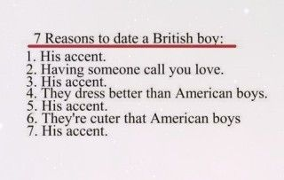 reasons to date a british guy