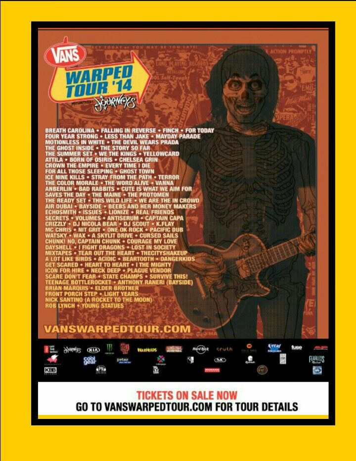 Warped Tour 2014 Lineup