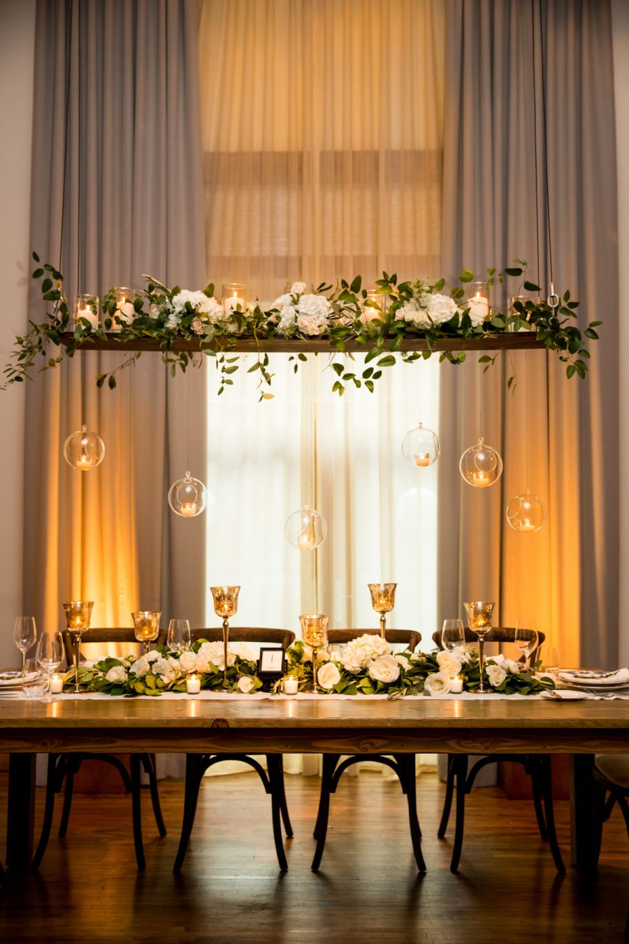 Photography : Cristina G Photography | Floral Design : HMR Designs | Venue : The Ivy Room Read More on SMP: http://www.stylemepretty.com/illinois-weddings/chicago/2016/03/25/romantic-downtown-chicago-wedding/