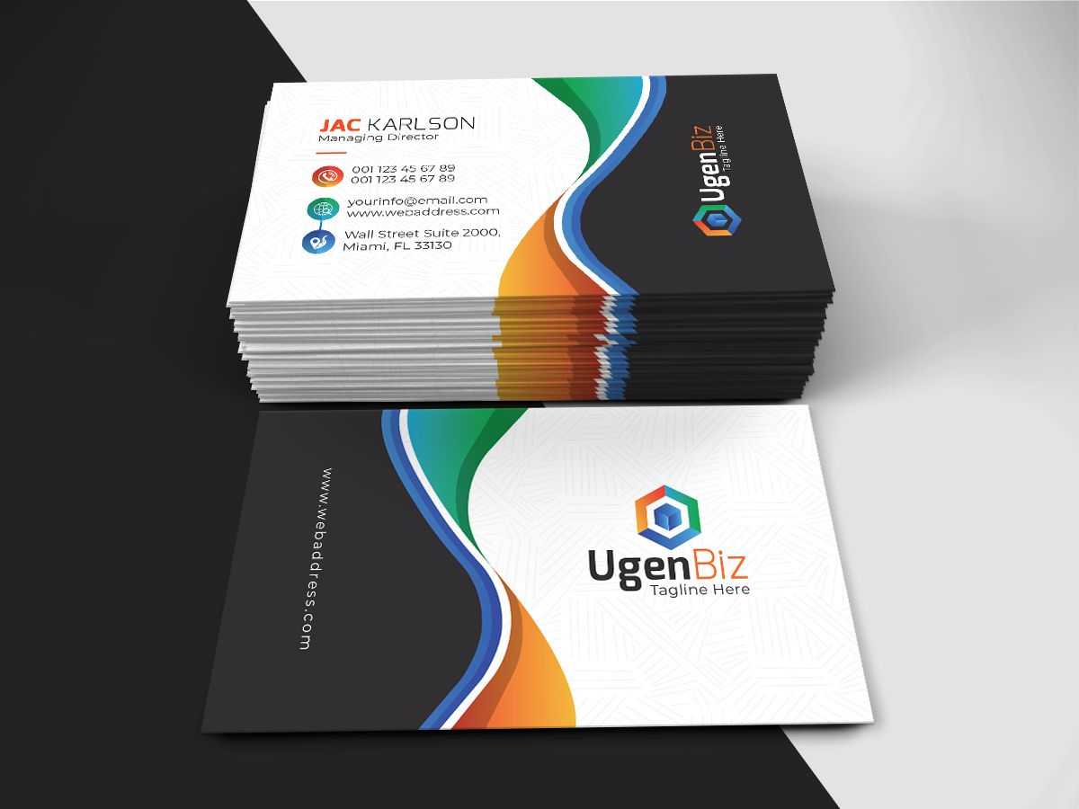 Paint Business Card Corporate Identity Template 74054 Painted