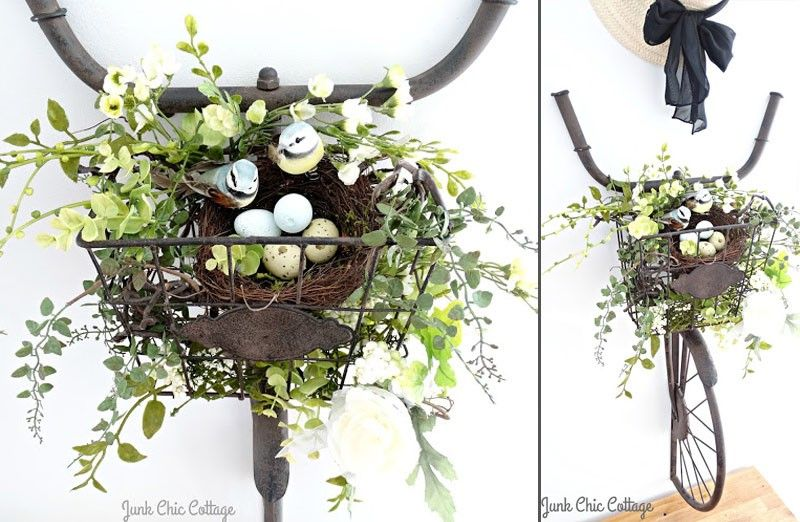 bike and basket wall art pinterest bicycle decor and planters