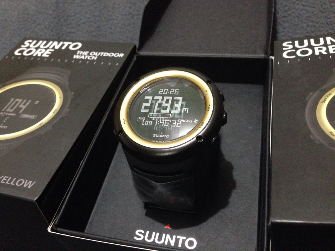 how to read barometer on suunto core