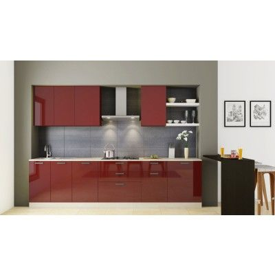 Small Straight Kitchen Design. We offer lot of modern straight modular Kitchens suitable for a smaller  kitchen area where everything