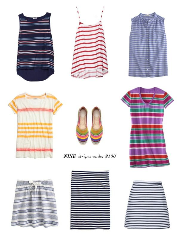 Girl on a Budget: Stripes under $100