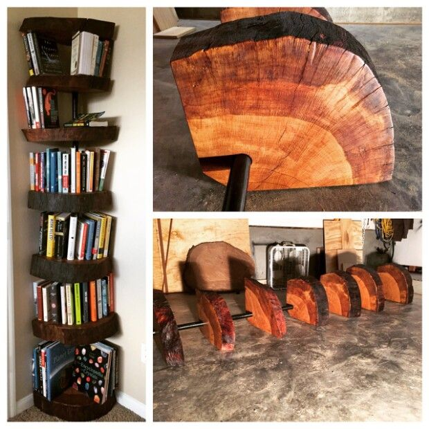 See Step By Step Instructions For How To Build Your Own Oak Tree Bookshelf Tree Bookshelf Wood Live Edge Wood