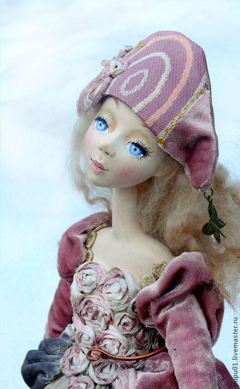 Купить Коллекционная кукла Последний день зимы - розовый, коломбина, кукла ручной работы