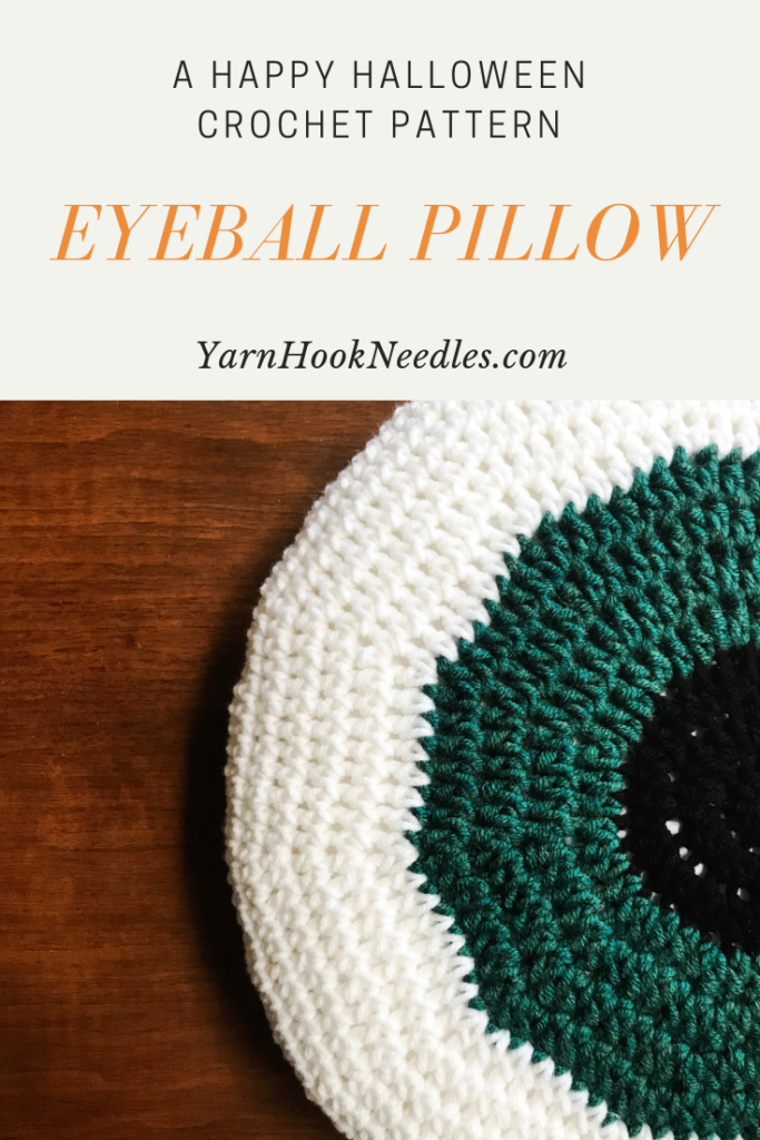Make The Perfect Eyeball Pillow For Halloween With This Easy Pattern ...