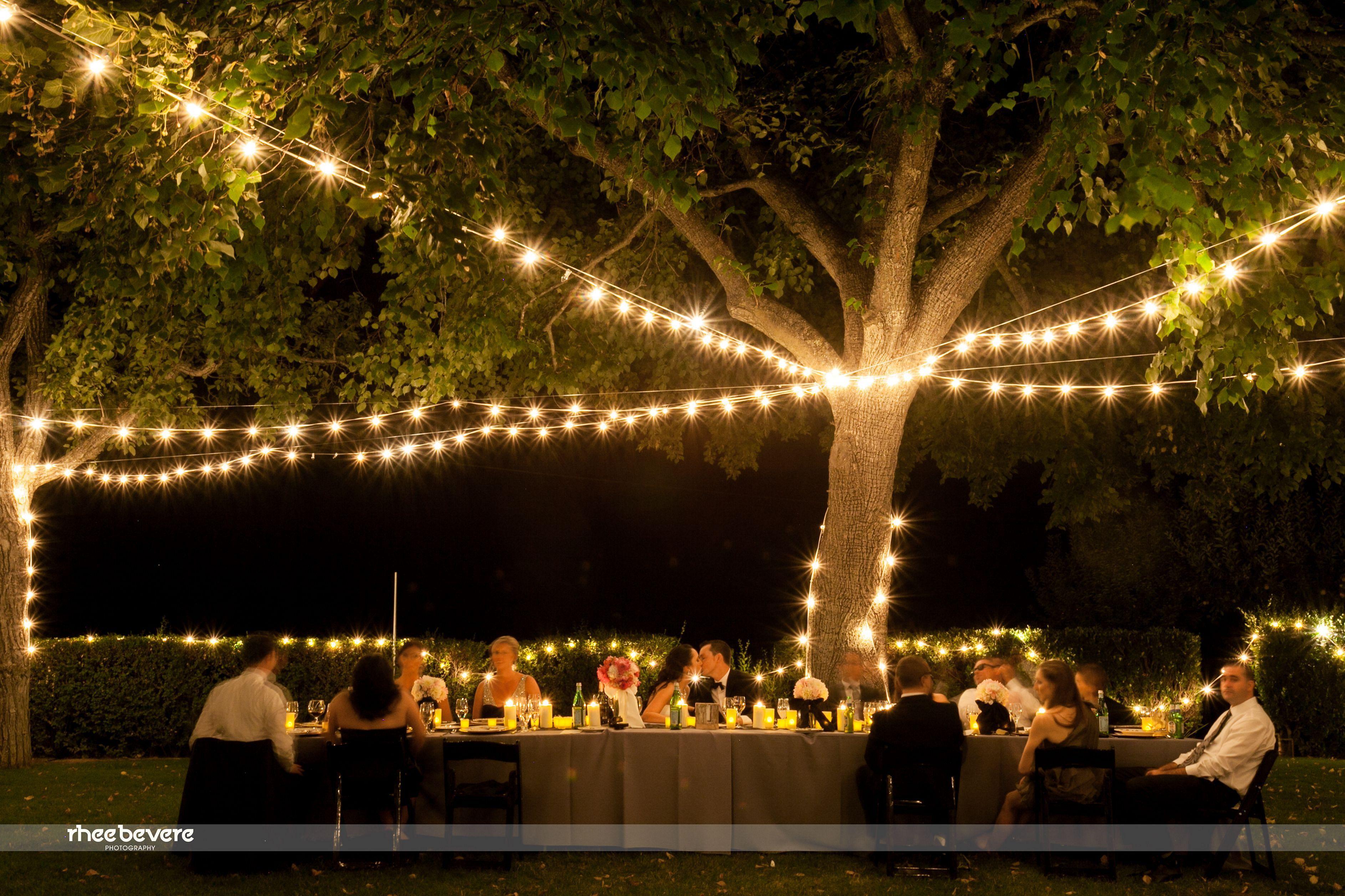 Outdoor Wedding Lighting Design Ideas