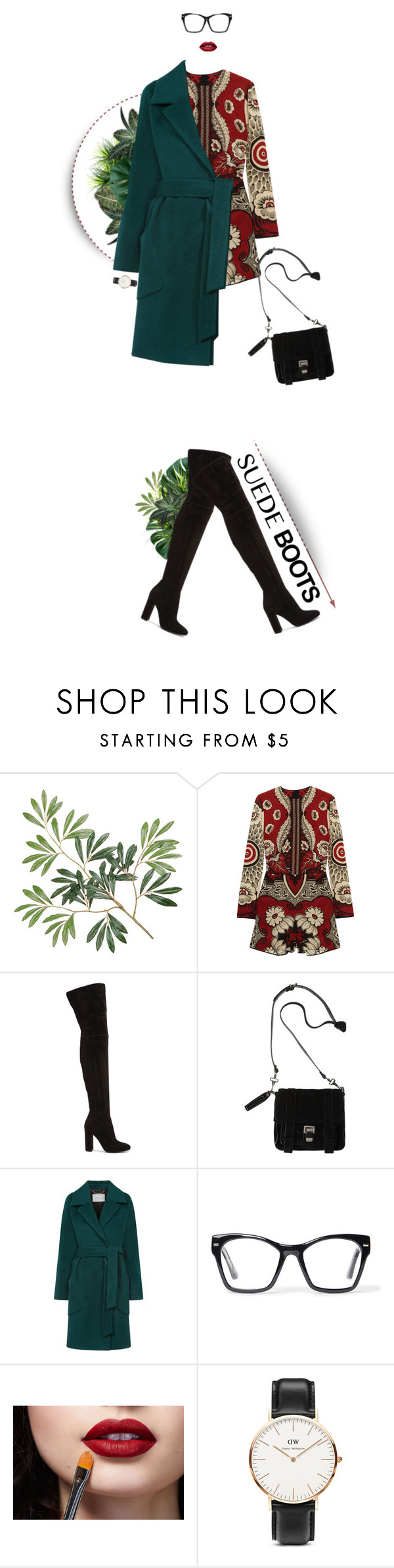 """""""I was hoping you would come around #269"""" by beliz-yilmazerli ❤ liked on Polyvore featuring Valentino, Gianvito Rossi, Proenza Schouler, Windsmoor, Spitfire and Daniel Wellington"""