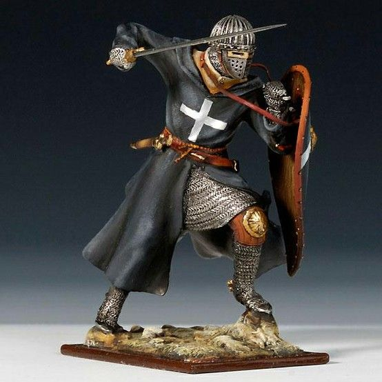 Knight Hospitaller, 12th century, the shield coloring is a bit wrong.
